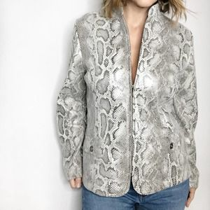 ALFRED DUNNER Reptile Print Jacket